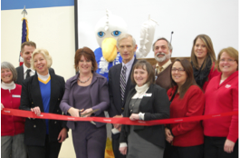 Hackett ribbon cutting