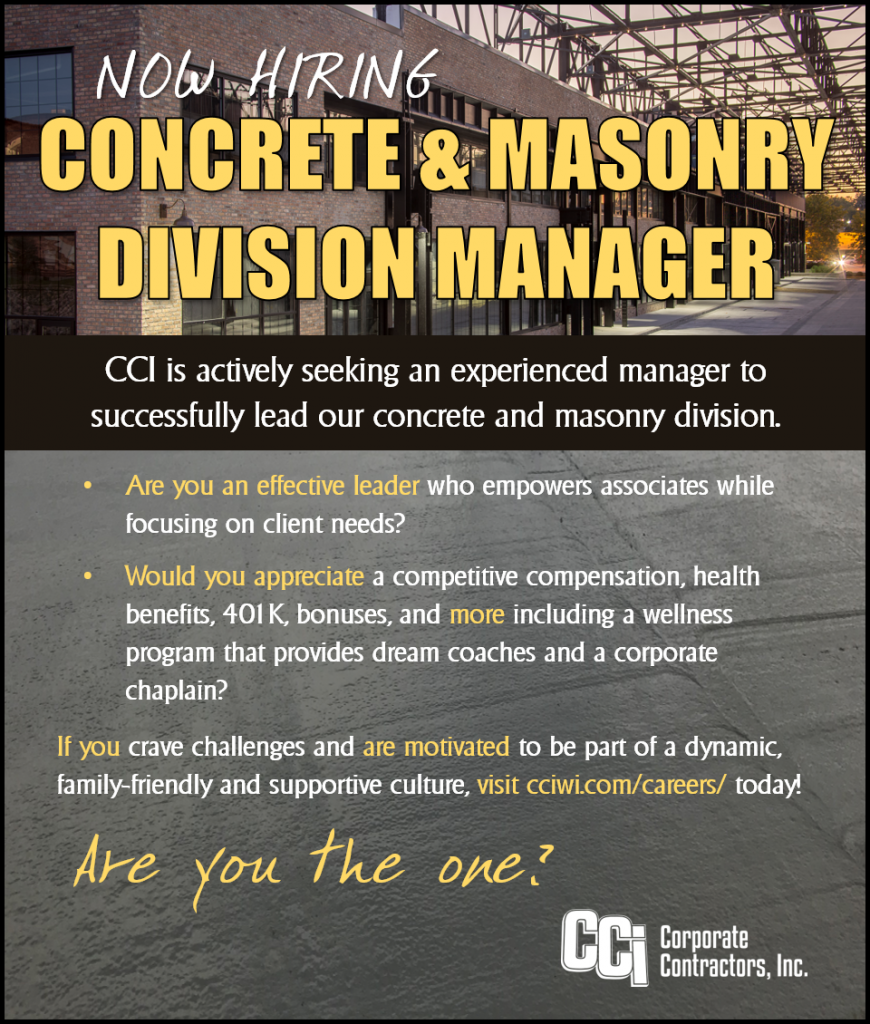 Now Hiring: Concrete and Masonry Division Manager
