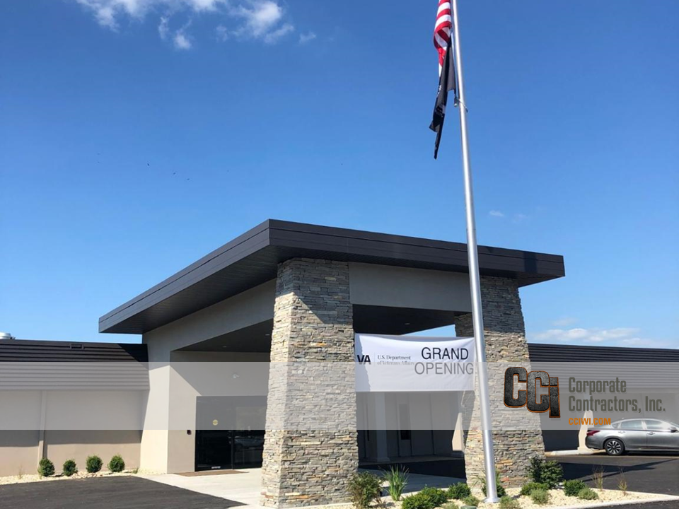 CCI renovated the Veterans Administration Community Based Outpatient Clinic (CBOC), Janesville, WI