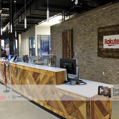 CCI build-out the Rakuten offices in downtown Beloit, WI