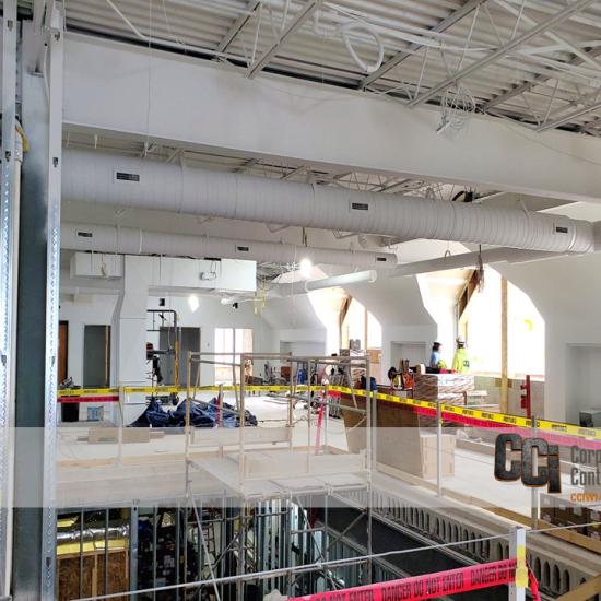CCI renovates the Brown Deer Library building, Brown Deer, WI