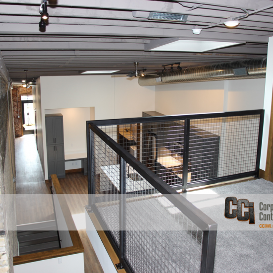 CCI renovated a former storefront into the Klein Block loft apartments, Janesville, WI