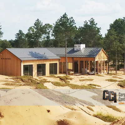 CCI constructed cabins at the Sand Valley Golf Resort, Rome, WI