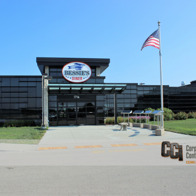 CCI built-out a vacant airport space for Bessie's Diner, Janesville, WI