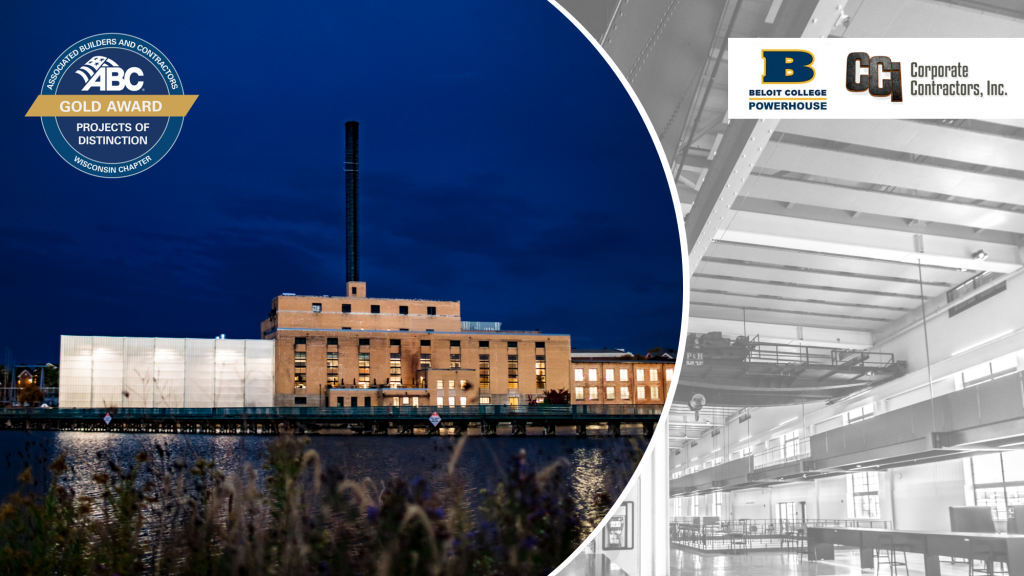 CCI Awarded Gold ABC Projects of Distinction Recognition for Beloit College Powerhouse Project